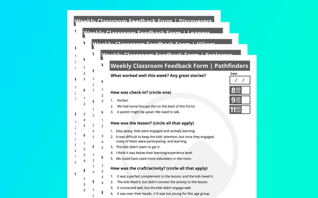 Using Classroom Feedback Forms